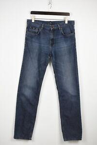 Hugo Boss Black Label Maine Homme W35/L36 Délavé Jeans Coupe Standard 37018-GS