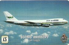 RARE / CARTE TELEPHONIQUE - AVION BOEING AIRLINERS AIR GABON / PAPER PHONECARD