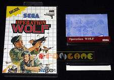 OPERATION WOLF Master System Versione Europea PAL ••••• COMPLETO