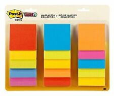 Post-it Super Sticky Notes, 3 in x 3 in, Assorted Colors, 15 Pads/Pack, 45...