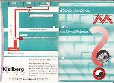 Prospekt Neuheiten Leipziger Messe 1936 Kjellberg Finserwalde Schweißer Bedarf !