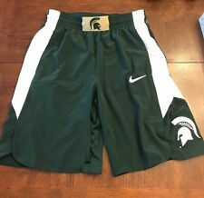 Nike Men's Basketball Shorts MEDIUM NCAA Michigan State Spartans PRO GREEN RARE