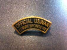 Badge  Correspondent US  2,5cm en reproduction  ATTACHE BROCHE