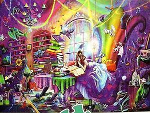 "Rose Cat Khan's ""MAGIC STUDY"" a Flights of Fantasy 1000 Piece Puzzle + Poster"