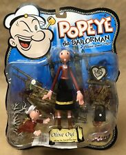 Olive Oyl With Swee' Pea Popeye The Sailorman Mezco MOC