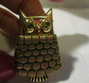"AVON Vintage-Style Owl Locket Pendant Doubles as Pin Collectible Piece 31 1/2"" L"