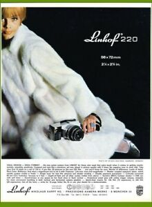 1970 Linhof 220 Camera Vintage Print Color Ad
