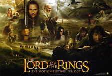 LORD OF THE RINGS - TRILOGY Movie POSTER 27x40 Elijah Wood Ian McKellan