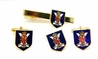 THE ROYAL REGIMENT OF SCOTLAND ARMY CUFFLINKS TIE CLIP LAPEL BADGE MILITARY GIFT