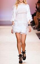 "$750 ISABEL MARANT ""QODESSA"" Runway Mini Skirt SZ 40 $750 NWT Lace Ruffle Tier"