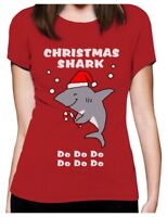 Christmas Shark doo doo doo  Ugly Holiday Women T-Shirt Funny