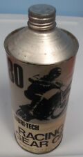 Vintage Motocross Lubri-Tech Racing Gear Oil 1Qt. Full Can AHRMA
