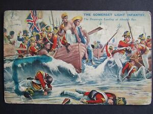 RARE 1939 MILITARY CARD-BATTLES FOR THE FLAG-SOMERSET LT INFANTRY AT ABOUKIR BAY