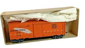 HO Vintage Roundhouse Western Pacific Boxcar 1953 Kit in Original Box Orange
