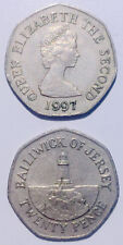 Baliwick of Jersey 20 pence 1983-1997  Lighthouse in St. Brelade 21mm co-ni coin