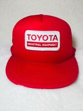 Vintage Toyota Industrial Equipment Red Mesh Trucker Snapback Hat Cap Patch