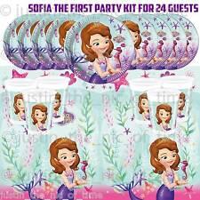 Sofia The First 1st Ragazze Per Bambini Kid Festa Di Compleanno Stoviglie KIT Pack per 24