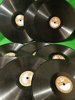 "VINTAGE LOT OF  9X  78rpm  BROADCAST LABEL 78 Records 30s 40s 8"" 10"""