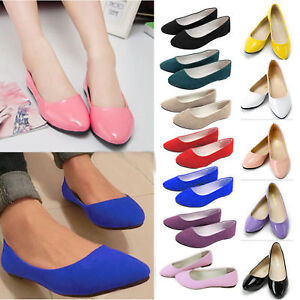 Womens Comfy Flatform Shoes Slip On Loafers Pumps Ballerina Ballet Dance Shoes