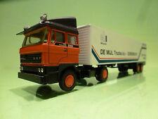 LION CAR 58 36 DAF 2800 TRUCK + EUROTRAILER - DE MIJL TRUCKS 1959 1984 - 1:50