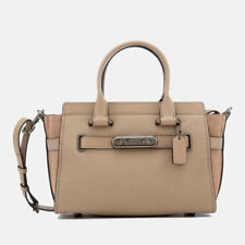 BRAND NEW COACH SWAGGER 27 HANDBAG COLOUR STONE/DARK GUNMETAL