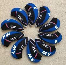 10PCS Black&Blue Quality Neoprene Taylormade M4 Golf Club Iron Covers HeadCovers