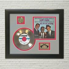 """Frank Sinatra """"Rat Pack"""" Framed 45 Picture Sleeve Record Display. """"M4"""""""