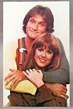 circa 1978 MORK & MINDY portrait TV Show full color photo fan card postcard MINT