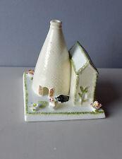Coalport Cottage Bottle Oven England  Applied Flowers Bone China