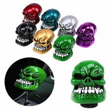 Universal Car Gear Shift Knob Custom Skull Head Manual Skull Shifter Lever Green