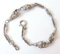 Chaine de montre gousset en ARGENT vers 1900 silver albert chain
