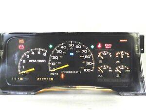 Instrument Speedometer Gauge Cluster 239k for 95-99 Suburban 1500 2500 Truck