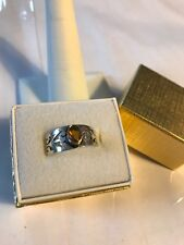Box Never Tarnish Topaz Ring-sz.8 Brand New Sterling Silver Handcrafted W/Gift