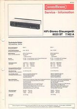 NORDMENDE - HiFi-Stereo 8025 ST 7.162 A - Service Information - B2886