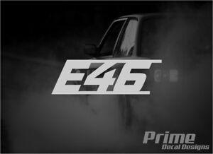E46 3 Series EURO Car Wall Window Vinyl Decal Sticker