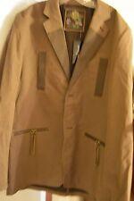 MARC ECKO Mens Sport Coat Blazer Brown Long Sleeve  XL 100% Cotton NEW