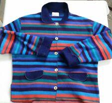 Vtg Henri Bendel Polyester Multi Colored Long Sleeve Button Down Light Sweater