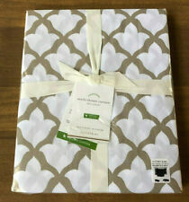 NLA  NEW Pottery Barn MARLO Organic Shower Curtain  Moroccan TAUPE / WHITE