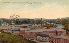 Garner Print Works and Bleachery Company  Wappingers Falls,NY Vtg 1914 Postcard