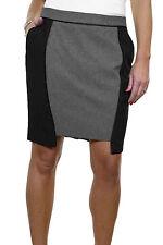 NEW Fully Lined Pencil Smart Washable Tulip Mini Skirt Black Grey Size 10