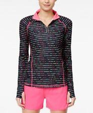 Ideology 1/4 Zip Top Jacket Energize Stripe Size Medium