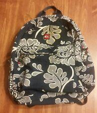 Quiksilver Blue & Yellow Backpack Rucksack Bag Hawaiian Surf Beach Pattern