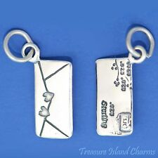 Love Letter Sealed With Hearts .925 Solid Sterling Silver Charm MADE IN USA