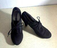 XOXO  Women's Black Oxford Lace Up Style High Heel Shoes~(SZ. 9.5 Medium)