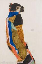Egon Schiele Moa Girl Canvas Print