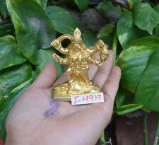 "2.5"" Vintage Brass Goddess Mata Maha Kali Maa Idol Statue Home Decor~I-4919"
