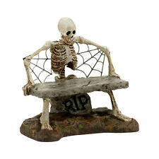 Dept 56 Is This Seat Taken Skeleton Bench 4030781 NEW SVH Snow Village Halloween