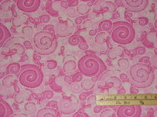 Pink Ribbon Breast Cancer Join the Fight Fabric by the 1/2 Yard  #C2329