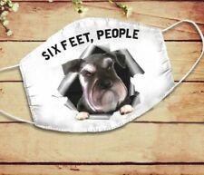Standard Schnauzer Six Feet People Face Mask Soft