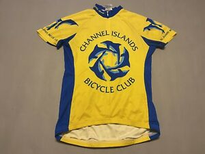 Voler Channel Islands Bicycle Club Cycling Jersey Size S Yellow Blue